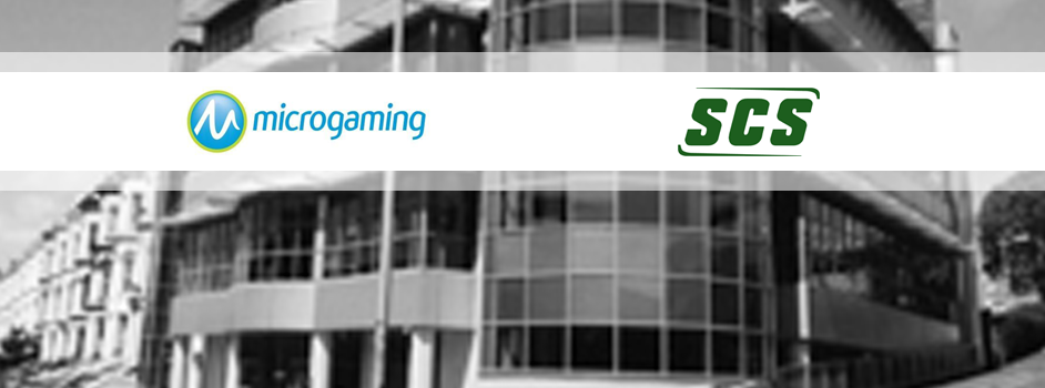 Microgaming and SCS logos