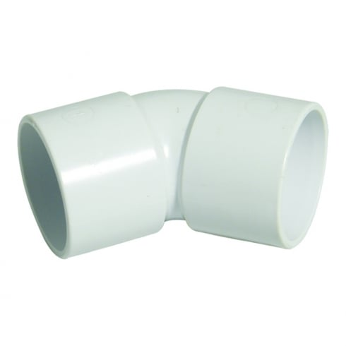 Floplast Abs 45 Degree Elbow White